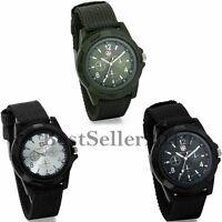 Military Army Aviator Men's Nylon Canvas Band Sport Analog Quartz Wrist Watch
