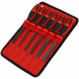 Sealey Premier 6pc 150mm Engineers File Set Files Flat Half Round Square Files