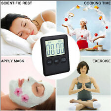 Large LCD Digital Kitchen Cooking Timer Count-Down Up Clock Magnetic Alarm Hot
