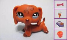 Littlest Pet Shop Dog Dachshund Weiner 640 Free Accessory Authentic US Seller