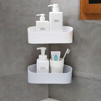 2er Duschregal Kunststoff ohne Bohren Badregal Eckregal Duschablage Dusche Weiß