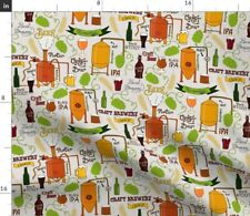 New listing Craft Beer Brewing Brewery Ale Alcohol Alcoholic Spoonflower Fabric by the Yard
