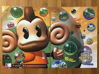 Super Monkey Ball 2 Nintendo Gamecube 2002 Vintage 2-Page Poster Ad Print Art