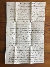 Unadilla New York 1827 House Fire Letter by Pioneer Settler Otsego County NY