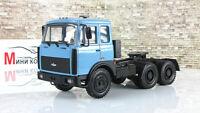Scale car 1:43, MAZ-64221 truck tractor (1989-91), blue