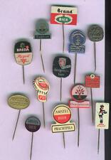 13 x lapel pins  many dutch beer BRANDS     60s      <L>