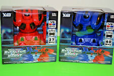 X/B Remote Control Battling Robots One Pair Of Them 1 Red And 1 Blue 27 & 40 MHz