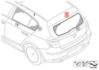 Genuine BMW E87 E81 Rear Window Sunshade Sun Shade Mesh Cover 51460432176