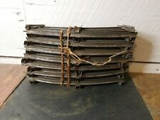 "Vintage IVES 0 gauge track, 9"" curved pieces (14) 9 "" pieces"