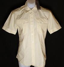 Bnwt Authentic Men's Firetrap Short Sleeved Sheldon Shirt Large New Slim Fit