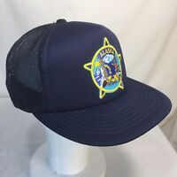 Vintage Alaska State Mesh Snapback, Trucker, Ranger Hat, Navy Blue Cap