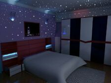 267 Glow in the Dark Star Wall Stickers - Easy Peel and Stick Fluorescent Dots -