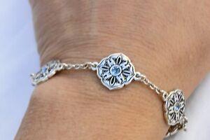 NWT Brighton Casablanca Silver & Blue Crystal Bracelet $58