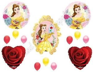 BEAUTY & THE BEAST Disney Movie Birthday Party Balloons Decoration Supplies Rose