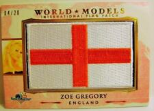 ZOE GREGORY ENGLAND FLAG PATCH 4/20 AMERICA THE BEAUTIFUL BENCH WARMER 2017 RARE