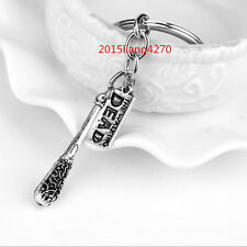 The Walking Dead Cudgel And Letter Key chain Pendant Fashion Jewelry Zink Alloy