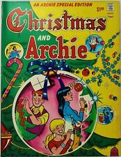 "GREAT ARCHIE TREASURY COMIC- 'CHRISTMAS AND ARCHIE' 1975 OVER 10"" x 13"" BIG"