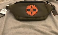Coach x MBJ Naruto Warren Belt Fanny Pack Signature Green Leather NWT $350