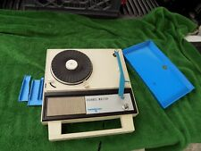 """Rare Vintage Blue Channel Master """"Swingster"""" Portable Phonograph Record Player"""