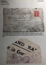1942 Manchester England Envelope Made From Poster Cover To Ashton Under Lyne