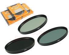 58mm 3 Filter Kit Neutral Density ND2 ND4 ND8 Lens Filter for Canon