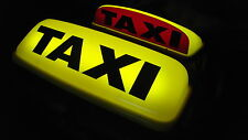 "TAXI ROOF SIGN 24"" LED'S YELLOW AERODYNAMIC TAXI METER TOPSIGN MAGNET ROOF LIGHT"