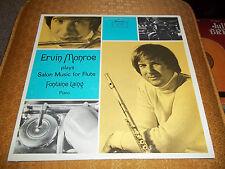 Ervin Monroe Plays Salon Music for Flute Rare Autographed LP Golden Crest Stereo