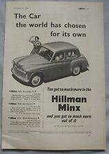 1952 Hillman Minx Original advert No.2