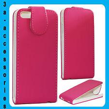 Pink Protector De Cuero a presión Funda Bolsa Para Apple iPhone SE 5G 5S