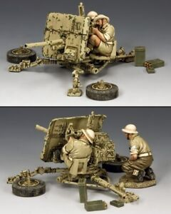KING & COUNTRY EIGHTH ARMY EA107 (BR) BRITISH 2 POUNDER ANTI TANK GUN SET MIB