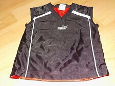 Youth Boy's Size Large 7 PUMA Reversible Black Red Athletic Shirt Top EUC