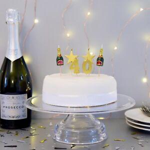 PREMIUM 3D 40th Milestone Cake Candles, Birthday Cake, Cake Topper