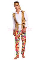 OP 217a Mens Costume Fancy Dress Woodstock Retro Hippie 60s 70s Peace Size S-3XL