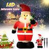 120cm LED Aufblasbar Schneemann Beleuchtet Santa Weihnachtsfigur Deko außen