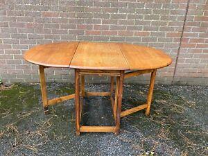 Vintage Oak Gate Leg Drop Leaf Dining Table Worn & Lovely