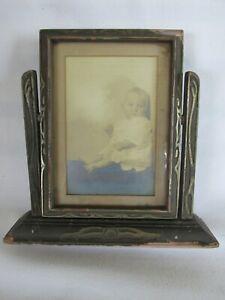 Art Deco Picture Frame, Wood w Design, Tilt Swing Style, Attic Rescue