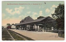 Westfiled NJ - EAST BOUND STATION OF CENTRAL RAILROAD OF NEW JERSEY - Postcard