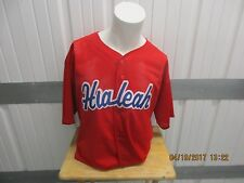 VINTAGE CITY OF HIALEAH XXL SEWN BASEBALL RED JERSEY PRE-OWNED