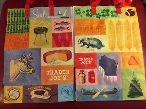 1 Trader Joe's Eco Reusable Grocery Tote Bag Wisconsin Sail Badger Corn Cheese