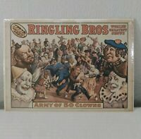 "Vintage Ringling Brothers ""Army of 50 Clowns"" 1960, World Circus Museum Poster"
