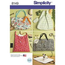 Simplicity SEWING PATTERN 8149 To Make Tote Bags & Dog Travel Bed