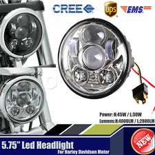 """Cree 5.75"""" 5 3/4 LED Headlight Daymaker H/L Projector DRL For Harley Motorcycle"""