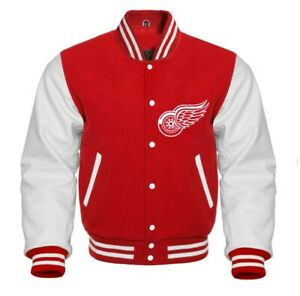 NHL Detroit Red Wings Beautiful Varsity jacket Small medium large XL 2XL