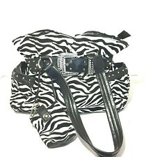 Women's Western Style Zebra Print Shoulder Bag/Purse with Pouch