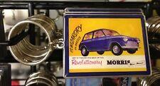 Mini Car Keyring Retro 60s Morris Minor Revolutionary Van retro Advert Sales