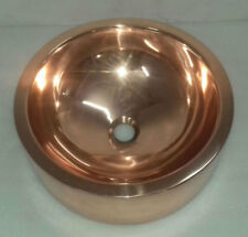 COPPER SINK - SHINY COPPER FINISH INSIDE AND OUTSIDE | DOUBLE WALL COPPER SINK