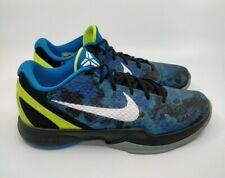 Nike Zoom Kobe 6 VI 2011 Blue Camo Photo Blue Volt Men's Size 11 429659-401