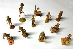 Original Erzgebirge Wood figures from the stories of Wilhelm Busch