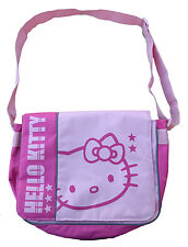 HELLO KITTY GIRLS PINK MESSENGER SCHOOL BOOK BAG TOTE