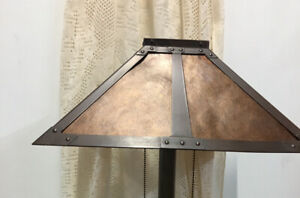 """Vintage Mission Arts & Crafts Mica Lamp Shade 16."""" X 16""""x 8"""""""